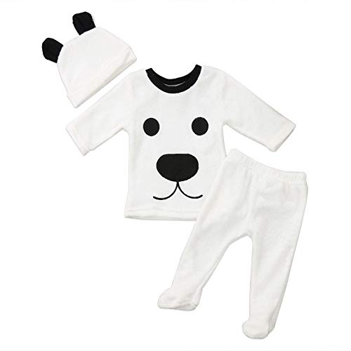Babykleidung Satz, LANSKIRT 3 Stücke Winter Neugeborenes Baby Boy Cartoon Tops Hosen Outfits Flauschigen Warme Kleidung 0-24 Monate
