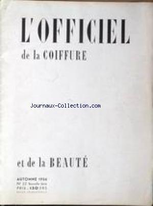 OFFICIEL DE LA COIFFURE ET DE lA BEAUTE ...