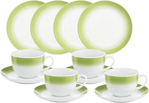 Gepolana Kaffeeservice 12-tlg. Porzellan grün