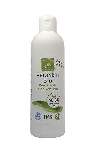 VeraSkin puro gel Aloe Vera Biologica 98,8% - lenitivo - idratante - prodotto Italiano dalle nostre coltivazioni - 250 ml