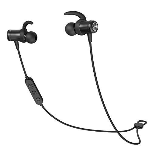 Mpow S11 Bluetooth 5.0 Kopfhörer, AptX HD Audio/ 9-10 Stunden Spielzeit, IPX7 Wasserdicht SportKopfhörer In Ear für Joggen/Laufen, Magnetisches Headset mit MEMS Mikrofon für iPhone Android Besten Bass-kopfhörer