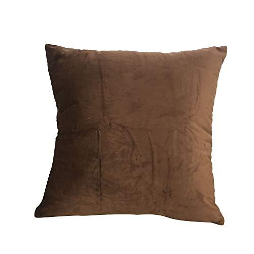 trada-Taie d'oreiller Caisse carrée de Coussin de couvertures d'oreiller décorative Douce de Velours pour Le canapé Bedroom 60x60cm Simples Lit Canapé Chambre Accueil DéCoratif