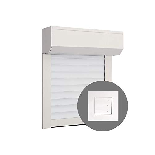Volet Roulant PVC H220 cm x L150 cm Electrique Filaire Blanc