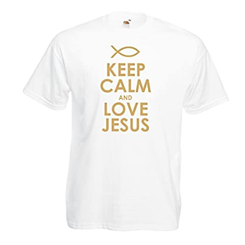 T shirts for men Love Jesus Christian gifts Christian shirts Jesus shirt (XXXXX-Large White Gold)