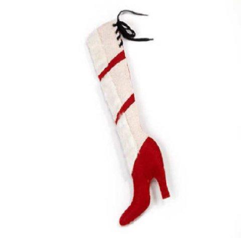 Calza della befana in velluto stivale con tacco rosso! modello grande