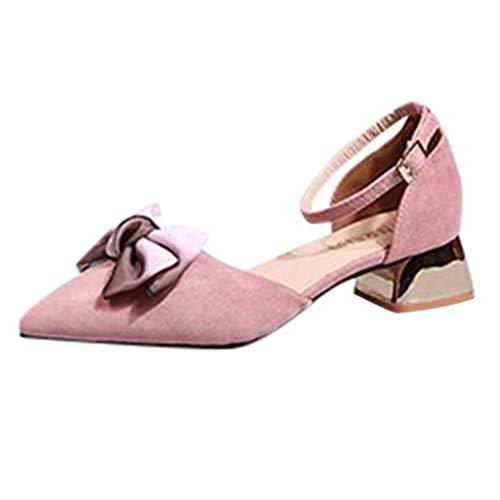 Sandalen Damen Arbeitsschuhe Frauen Sptize Schuhe High Heel Stiletto Schuhe Flacher Mund Hochhackige Schuhe Wild Sandals Freizeitschuhe Slipper