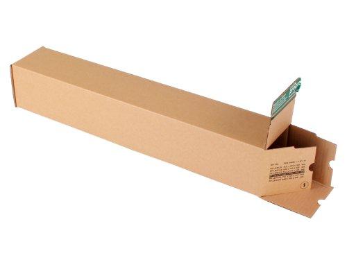 progressPACK Universalversandhülse Premium PP LB10.04 aus Wellpappe, DIN A1, 610 x 105 x 105 mm, 10-er Pack, braun