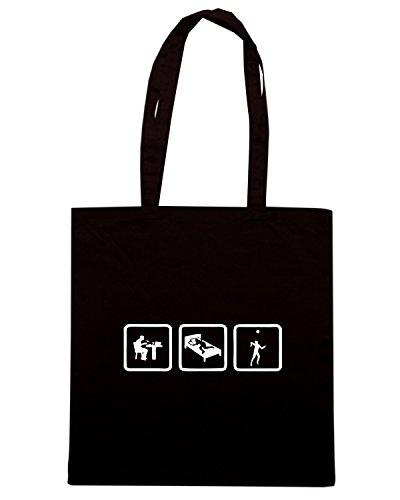 T-Shirtshock - Borsa Shopping OLDENG00714 volleyball Nero