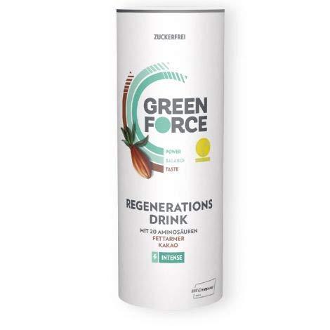 500g Trinken (GREENFORCE Intense Erneuerbare Energie zum Trinken Pulver in 500g Runddose Vegan Cholesterinfrei Zuckerfrei Glutenfrei)