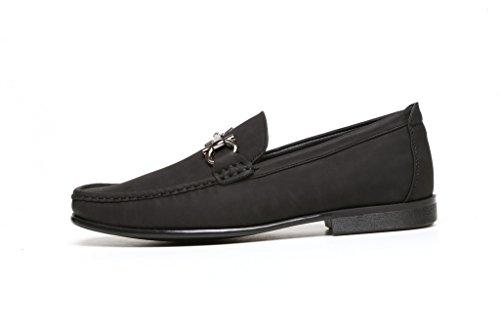 Da Uomo Da Infilare Fashion Casual Elegante Mocassini Scarpe Da Guida con Tacco Designer mocassini Nuovo Stile numeri UK Nero
