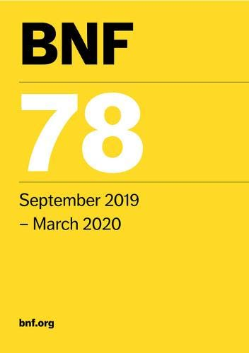BNF 78 (British National Formulary) September 2019