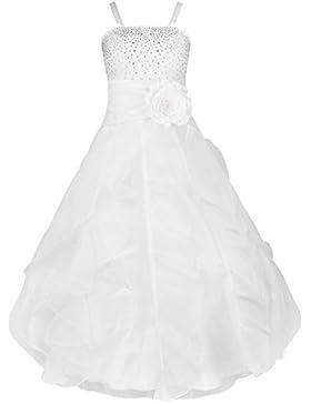 YiZYiF Blumenmädchen Kleid Kinder Mädchen Kleid Festlich Brautjungfer Hochzeit Partykleid Abendkleider Organza...