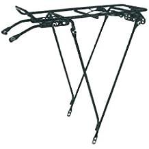 Rejilla Portaequipajes Trasera Acero Negro Ajustable 26 to 28 bicicleta
