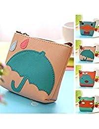 Tradico® Chic Lady Women Mini Cute Cartoon Cat PU Coin Purse Key Wallet Storage Bag