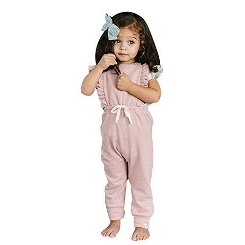 Unisex Kinderbekleidung,ODRD Clearance Sale Neugeborenes Baby Backless gestreifte Rüschen-Spielanzug-Overall-Overall-Kleidung Kinder Kleinkind Kleidung Body Babyschlafsack Kleinkind Sommer
