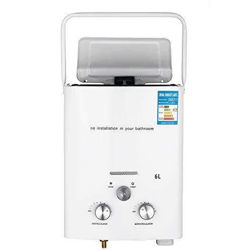Bisujerro 6L Calentador Agua Portátil LPG Calentador