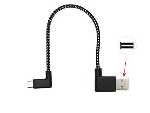 KRS - K2 - Kurz USB SYNC short cable USB Lader Lade kabel Ladekabel Micro USB 90° gewinkelt für Samsung Galaxy S2 S3 S4 S5 S6 S7 HTC One Nokia Lumia Huawei Honor 6 7 usw. ca 20 cm schwarz (20cm)