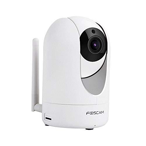 Foscam R2M - Drehbare und Schwenkbare Full HD IP WLAN Kamera/Überwachungskamera mit 2 MP (Auflösung von 1920x1080 Pixel), P2P, IR Nachtsicht, microSD-Kartenslot, Bewegungserkennung, 2-Way-Audio-Sytem 1080-hd-kamera