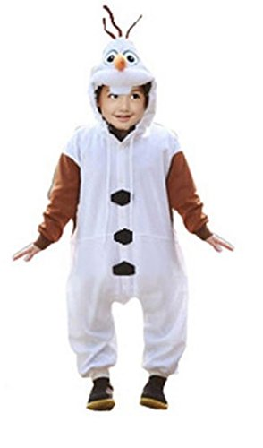Pigiama bambini, tutina, ispirato a Frozen - Olaf, pupazzo di neve - bambini da 2 a 12 anni