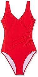Schiesser Damen Badeanzug, (Rot 500), 40 (Herstellergröße: 040C)