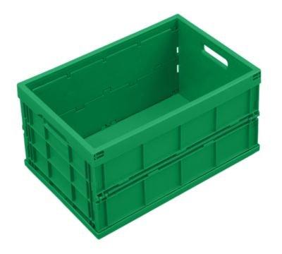 Bac pliant en polypropylène - capacité 40 l, sans couvercle coloris vert - conteneur de transport conteneur en plastique Bac de stockage Bac en plastique Bacs de stockage Bacs en plastique Caisse de transport Caisse de transport en plastique Caisse