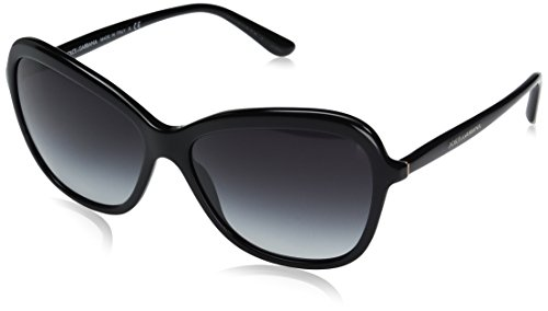 Dolce & Gabbana Damen 0DG4297 501/8G 59 Sonnenbrille, Schwarz (Black/Gradient),