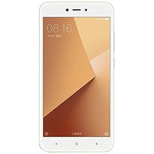 "Xiaomi Redmi Note 5A Smartphone SIM doble 4G 16GB 5.5"", 16 GB, 13 MP, Android, 7.0 Nougat, Blanco/Oro [Versión Europea]"
