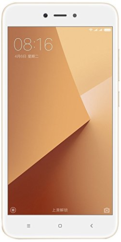 Xiaomi Redmi Note 5A Smartphone SIM doble 4G 16GB 5.5', 16 GB, 13 MP, Android, 7.0 Nougat, Blanco/Oro [Versión Europea]