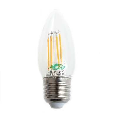 FDH 4W E26/E27 LED bombillas de filamento C35 4 LED Dip 380 lm / blanco cálido, blanco frío,220-240 V CA decorativo blanco frío