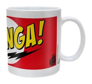 Lasgo Big Bang Theory Tazza Bazinga Red, Ceramica, Multicolore, 12x10.8x9.2 cm