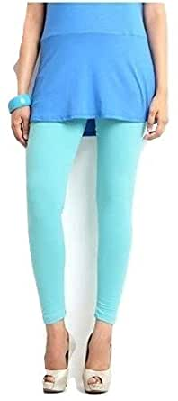 FashGlam Women Ankle Length Cotton Legging - Sea Blue