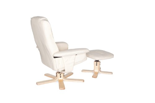 Amstyle Comfort Relaxsessel mit Hocker - 20