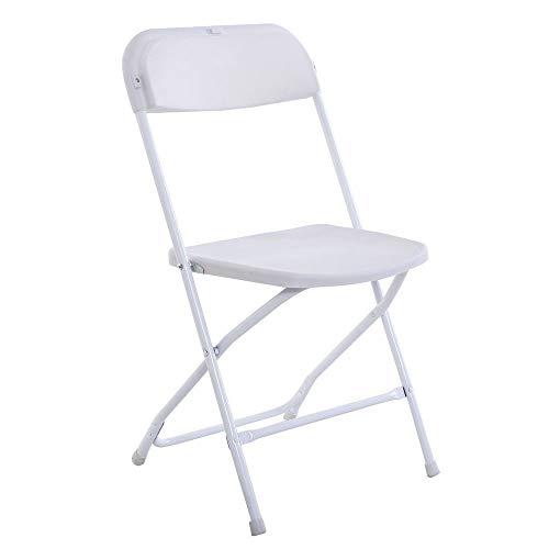 Paddia Kunststoff Faltbare Rückenlehne Freizeit Heimcomputer Büropersonal Sitz bequem einfach tragen Lagerung Camping Strand Faltbare Stuhl stapelbar weiße Stühle für Hochzeitsfest-Event - Kunststoff-strand-stuhl