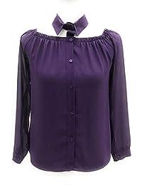 e5289e7d0895 pdk Camicia da Donna con Colletto Staccato Colore Viola tg M