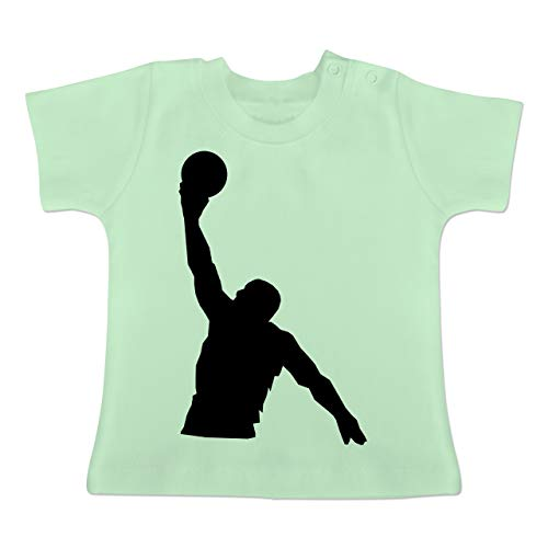 Sport Baby - Basketballer Wurf - 1-3 Monate - Mintgrün - BZ02 - Baby T-Shirt Kurzarm