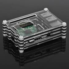 REES52 Raspberry Pi 3 Acrylic Case 9 Layer Box Cover With Cooling Fan Hole Shell Shell Compatible Raspberry Pi 2/3