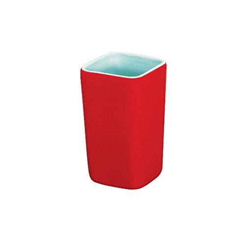 Dispensador y vaso ba o rojo comparaci n el lugar for Accesorios bano rojo