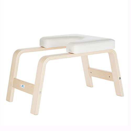 Silla de Yoga Taburete Boca Abajo Pivote Auxiliar de Forma física Inversor Máquina Invertida Silla Multifuncional Rodamiento 200 kg (Color : Blanco, Size : 63 * 40 * 36cm)