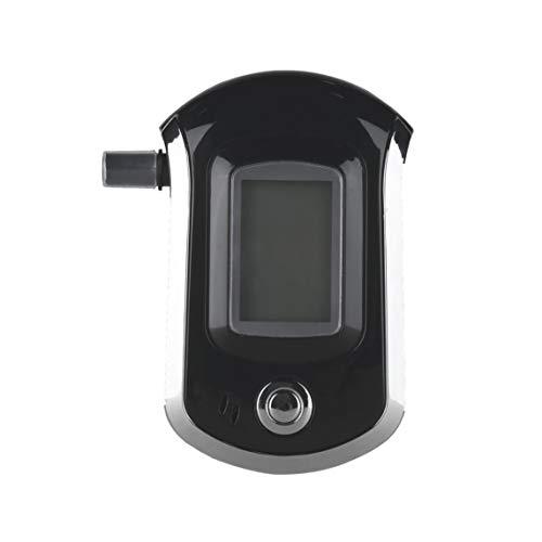 Footprintse alcoholimetro;alcoholimetro homologado Alcohol Tester Analizador de Aliento de alcoholímetro Digital Profesional con LCD de Color: Negro, Plata