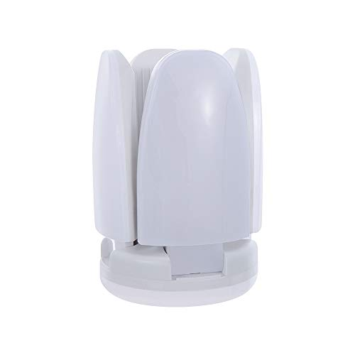 neaverler Super Bright Beleuchtung Kronleuchter E27 LED Shop Werkstatt Lamp Leuchtkörper in der Garage Befestigungselemente(5 Bulbs-3500K/Warm White)