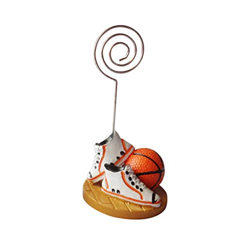 Censhaorme Basketball-Fußball-Fußball-Tabellen-Zahl-Kartenhalter Foto Memo Clip Hochzeit Tischdekoration (Foto-basketball)