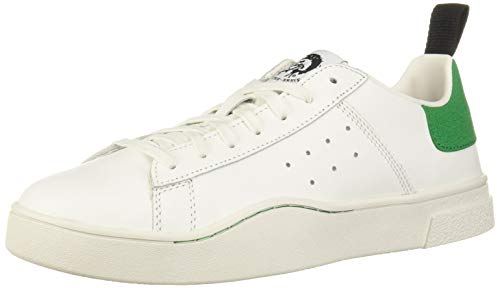 Diesel Herren S-CLEVER Low-Sneakers Turnschuh, White/Jelly Bean, 42 EU