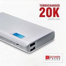 iBall PB2000720000mAH Lithium Polymer Power Bank (White-Grey)