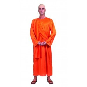 Buddhistisches Mönch-Kostüm für Erwachsene Einheitsgröße (Buddhistische Kostüme)