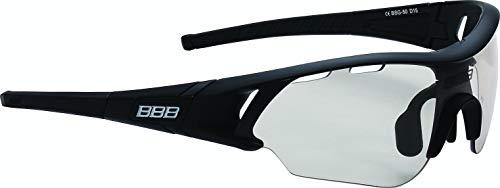 BBB Cycling Sportbrille Radfahren Summit mit Wechselobjektiven, Unisex Erwachsene Einheitsgröße, BSG-50, Matt Schwarz