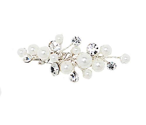 Unbekannt Schleppennadel Nadel Brosche Brautkleid Schleppe Strass Perlen Blume Kristalle