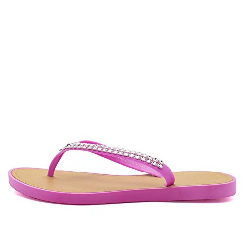 London Footwear - Retro aperto donna Pink