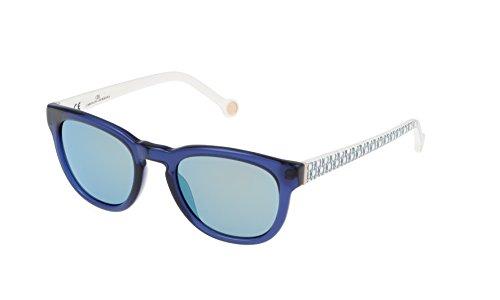 Carolina herrera she60550t31v, occhiali da sole donna, blu (azul), 50