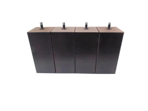 Hévéa Sélection Jeu de 4 pieds bois carré wengué 20 cm 70 x 70 PDSCARRE20W
