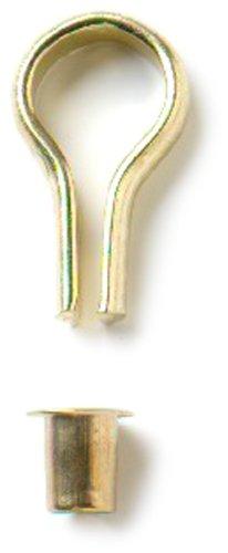 Bulk Hardware BH00003 Galvanisch vermessingtes Banjo-Bücherregal Stahlbolzen und Steckdosensatz Weiß